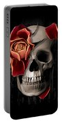A Rose On The Skull Portable Battery Charger