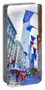 A Row Of Flags In The City Of New York 2 Portable Battery Charger