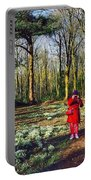A Selfie In Snowdrop Wood Portable Battery Charger