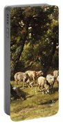 A Shepherd And His Flock Portable Battery Charger