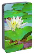 A Single Water Lily Blossom Portable Battery Charger