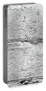 A Small Part Of The Wailing Wall In Black And White Portable Battery Charger