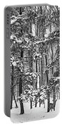 A Snowy Day Bw Portable Battery Charger