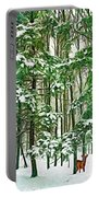 A Snowy Day - Paint Portable Battery Charger