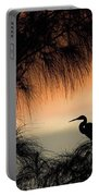 A Snowy Egret (egretta Thula) Settling Portable Battery Charger