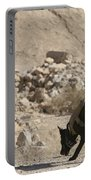 A Soldier And His Dog Search An Area Portable Battery Charger