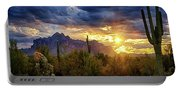 A Sonoran Desert Sunrise - Square Portable Battery Charger
