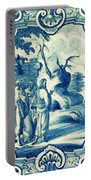 A South-german Faience Stove Tile Second Half 18th Century, By Adam Asar, No 18a Portable Battery Charger