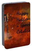 A Spooky, Space Halloween Card Portable Battery Charger