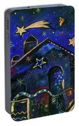 a star in Bethlehem Portable Battery Charger