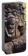 A Statue Of A Intricately Designed Holy Hindu Elephant Ganesha In A Sacred Temple In Bali, Indonesia Portable Battery Charger