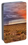 A Stormy New Mexico Sunset - Storm - Landscape Portable Battery Charger
