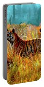 A Streak Of Tigers Portable Battery Charger