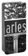 Ch - A Street Sign Named Charles Portable Battery Charger