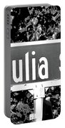 Ju - A Street Sign Named Julia Portable Battery Charger