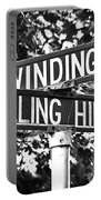 Wi - A Street Sign Named Winding Way And Rolling Hill Portable Battery Charger