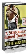 A Streetcar Named Desire Portrait Poster Portable Battery Charger