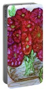 A Summer Bouquet Portable Battery Charger