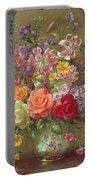 A Summer Floral Arrangement Portable Battery Charger