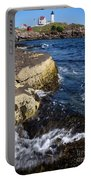 A Summer's Day At Nubble Light, York, Maine  -67969 Portable Battery Charger