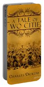A Tale Of Two Cities Book Cover Movie Poster Art 1 Portable Battery Charger