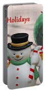 A Three Snowman Holiday Portable Battery Charger