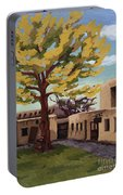 A Tree Grows In The Courtyard, Palace Of The Governors, Santa Fe, Nm Portable Battery Charger by Erin Fickert-Rowland