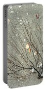 A Tree On The Beach - Sea Weed And Shells Portable Battery Charger
