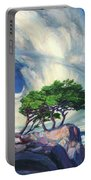 A Tree On The Seashore Reef Portable Battery Charger