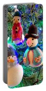 A Trio Of Snowmen Portable Battery Charger