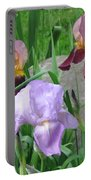 A Trios Of Irises Portable Battery Charger