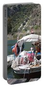 A Turkish Fishing Boat On The Dalyan River Portable Battery Charger