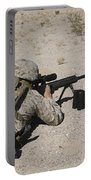 A U.s. Marine Zeros His M107 Sniper Portable Battery Charger by Stocktrek Images