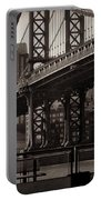 A View From The Bridge - Manhattan Bridge New York Portable Battery Charger