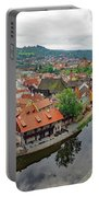 A View Of Cesky Krumlov And The Vltava River In The Czech Republic Portable Battery Charger