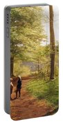 A Walk In The Forest Portable Battery Charger by Niels Christian Hansen