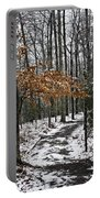 A Walk In The Snow Quantico National Cemetery Portable Battery Charger