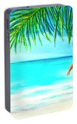 A Walk On Waikiki Beach #190 Portable Battery Charger