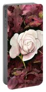 A White Rose Portable Battery Charger