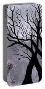 A Winter Night Silhouette Portable Battery Charger