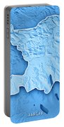 Aargau Canton Switzerland 3d Render Topographic Map Blue Border Portable Battery Charger