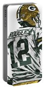 Aaron Rodgers Green Bay Packers Pixel Art 5 Portable Battery Charger