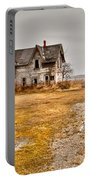 Abandoned Farm House Portable Battery Charger by Cale Best