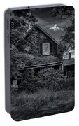 Abandoned Home In Lubec Maine Bw Version Portable Battery Charger