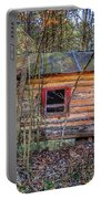 Abandoned Log Cabin Portable Battery Charger