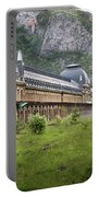 Abandoned Side Of The Canfranc International Railway Station Portable Battery Charger