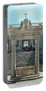Abbey Of Montecassino Courtyard Portable Battery Charger