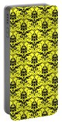 Abby Damask In Black Pattern 05-p0113 Portable Battery Charger