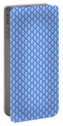 Abby Damask In White Pattern 18-p0113 Portable Battery Charger