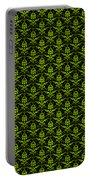 Abby Damask With A Black Background 09-p0113 Portable Battery Charger